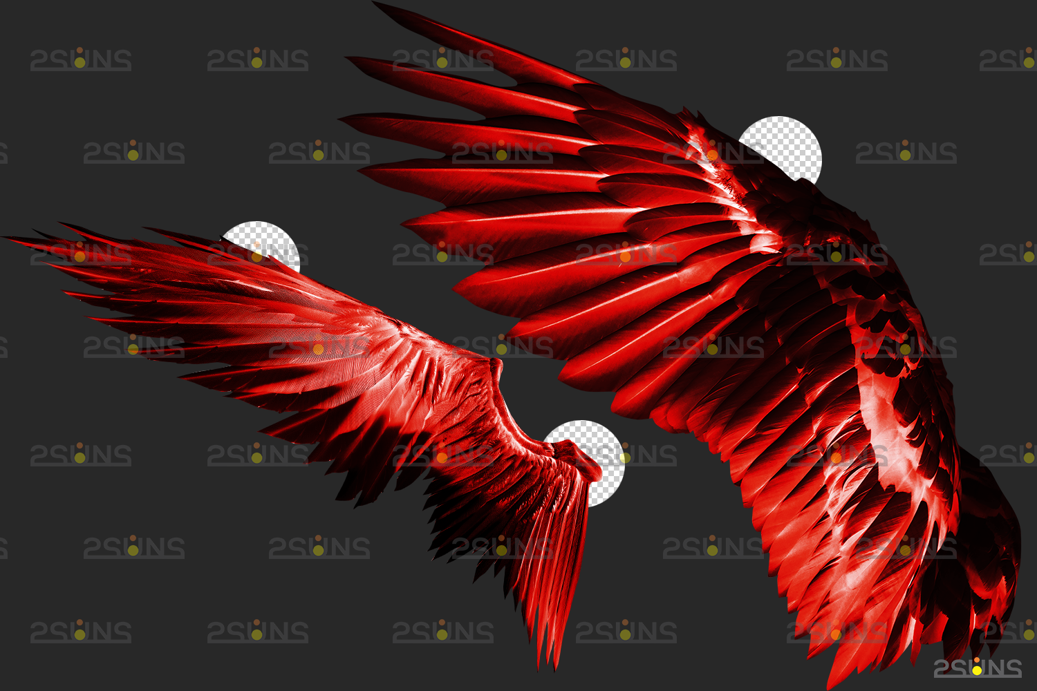 Red angel wings png & Photoshop overlay: Digital angel wings overlay, Digital backdrops wings, Fire - 006 59 -