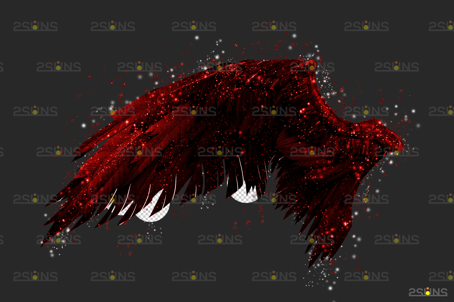 Red angel wings png & Photoshop overlay: Digital angel wings overlay, Digital backdrops wings, Fire - 007 58 -