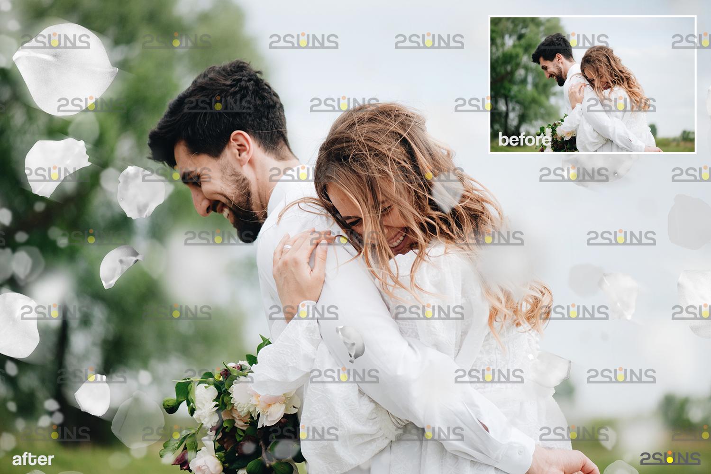 Flower overlay & Photoshop overlay: Floral digital backdrop, Flower overlay, Falling white petal png - 004 64 -