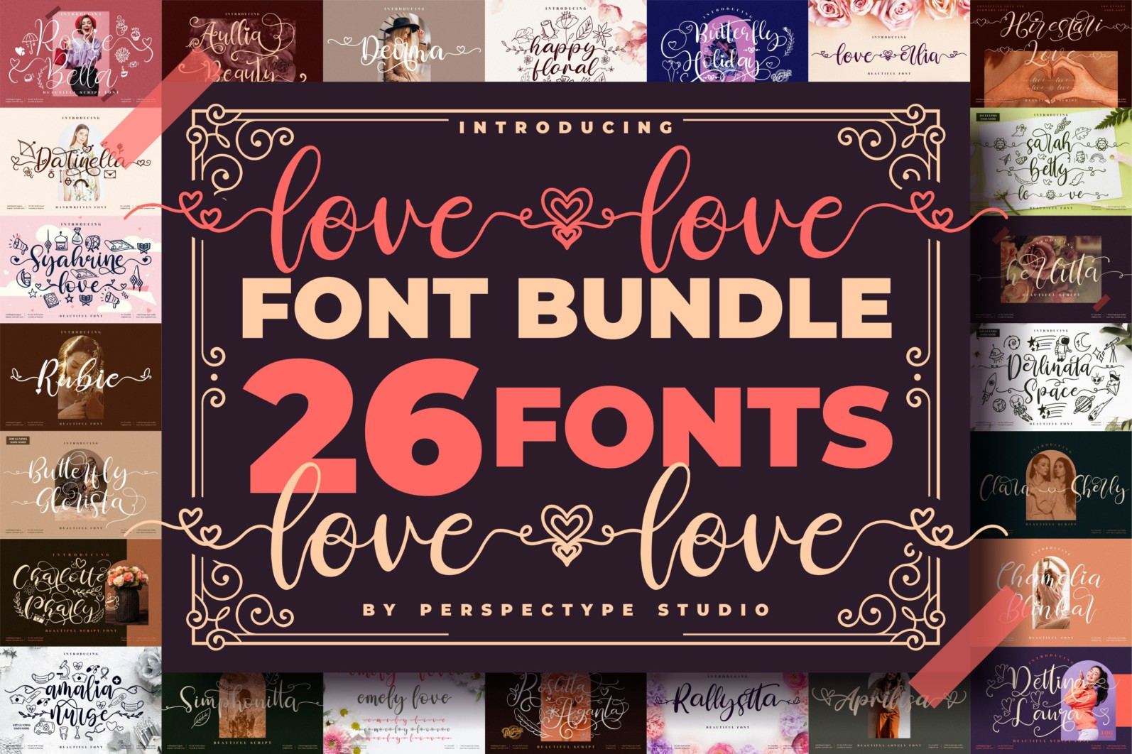 Love love Font Bundle from Perspectype Studio - 1 273 scaled -