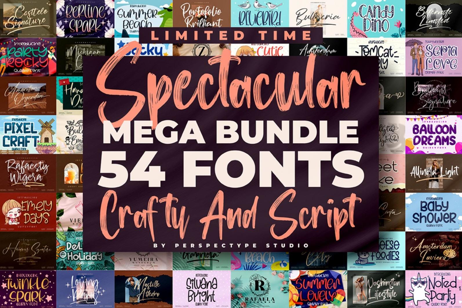 54 FONTS - Crafty and Script Font Bundle - 0 4 -