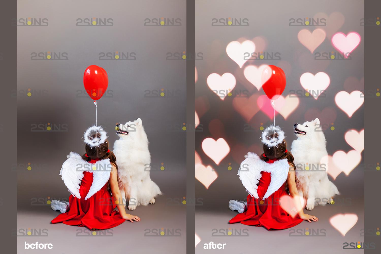 Valentine day overlay & Photoshop overlay, Valentine overlay, Heart backdrop, Valentine backdrop - 004 68 -