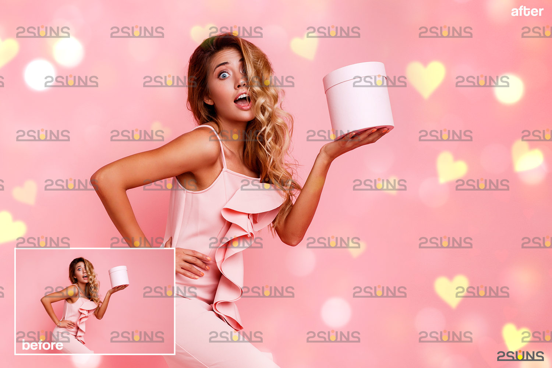 Valentine day overlay & Photoshop overlay, Valentine overlay, Heart backdrop, Valentine backdrop - 006 64 -
