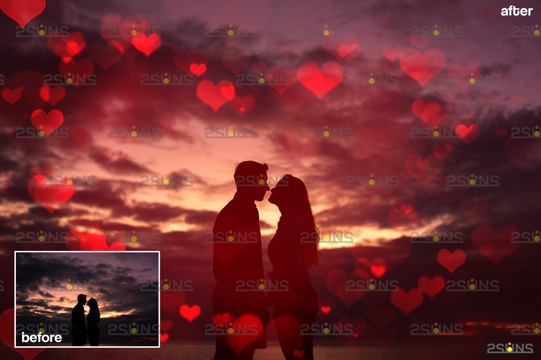 Valentine day overlay & Photoshop overlay, Valentine overlay, Heart backdrop, Valentine backdrop - 008 61 -