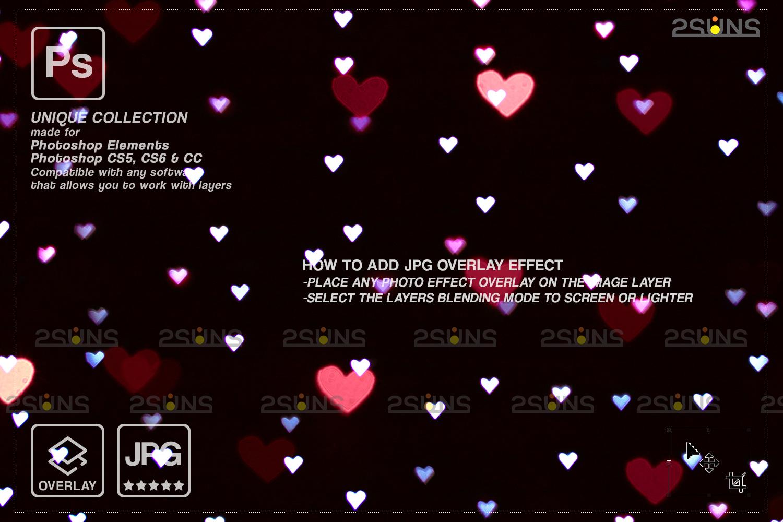 Valentine overlay & Photoshop overlay: Bokeh .Valentine digital backdrop, Valentine clipart - 002 77 -