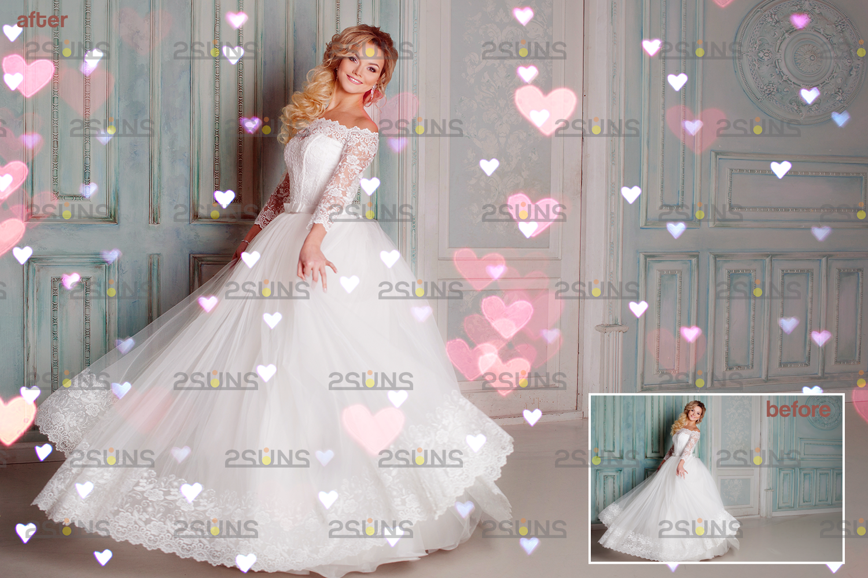Valentine overlay & Photoshop overlay: Bokeh .Valentine digital backdrop, Valentine clipart - 004 74 -