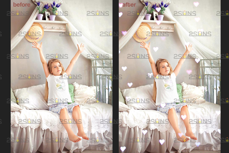 Valentine overlay & Photoshop overlay: Bokeh .Valentine digital backdrop, Valentine clipart - 005 73 -