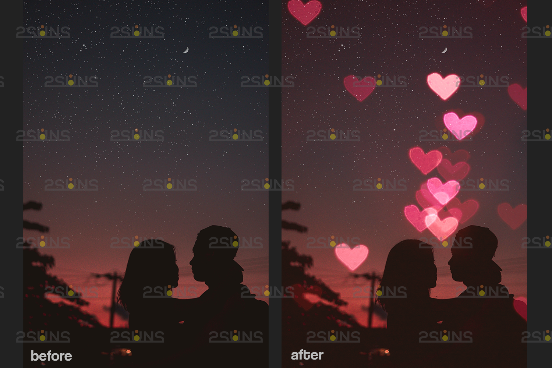 Valentine overlay & Photoshop overlay: Bokeh .Valentine digital backdrop, Valentine clipart - 009 59 -