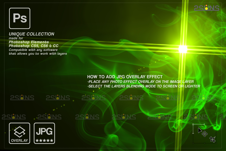 St Patricks day digital background & photoshop overlay: Green smoke bomb overlay, Bunny digital - 002 78 -