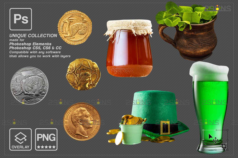 St Patricks day digital background & photoshop overlay: Green smoke bomb overlay, Bunny digital - 004 75 -