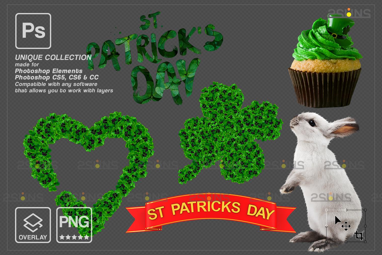 St Patricks day digital background & photoshop overlay: Green smoke bomb overlay, Bunny digital - 006 71 -