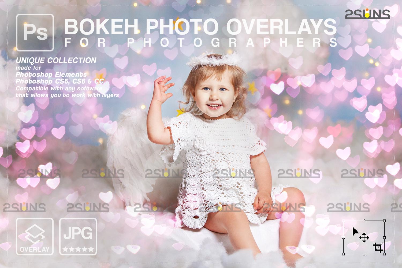 Valentine overlay & Photoshop overlay: Bokeh heart backdrop.Valentine digital backdrop,Heart - 001 81 -