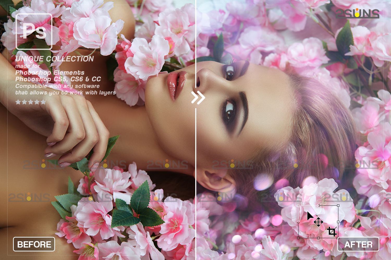 Valentine overlay & Photoshop overlay: Bokeh heart backdrop.Valentine digital backdrop,Heart - 008 72 -