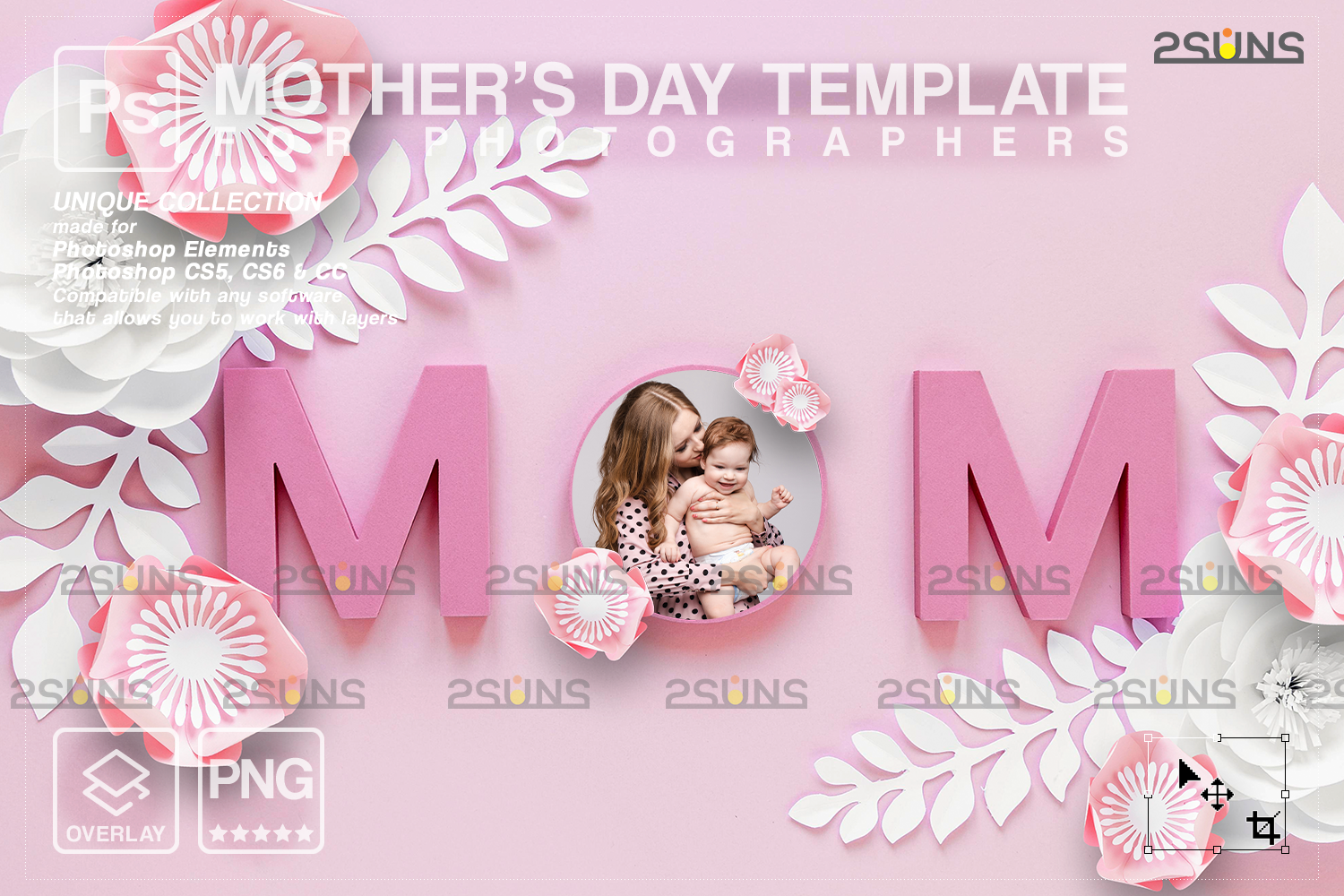 Mothers day cards template & Mothers day overlay: Backdrop flower watercolor frames, Mothers day - 001 101 -