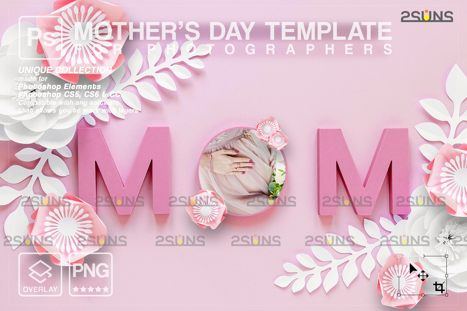 Mothers day cards template & Mothers day overlay: Backdrop flower watercolor frames, Mothers day - 003 107 -