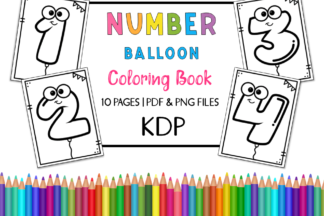 All Freebies - FREE KDP Number Balloon Coloring Book for Kids -