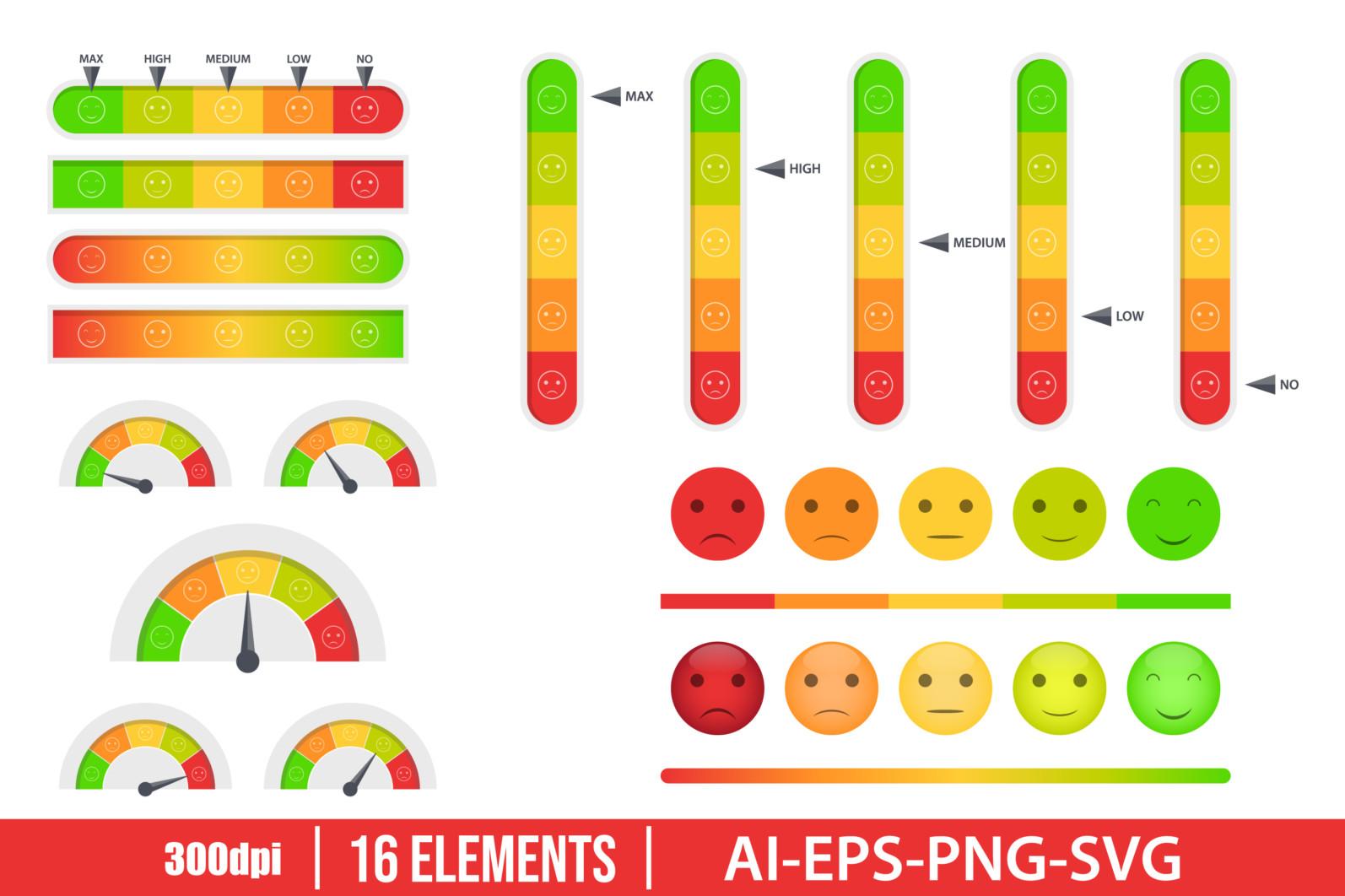 Customer feedback clipart vector design illustration. Customer feedback set. Vector Clipart Print - CUSTOMER FEEDBACK scaled -