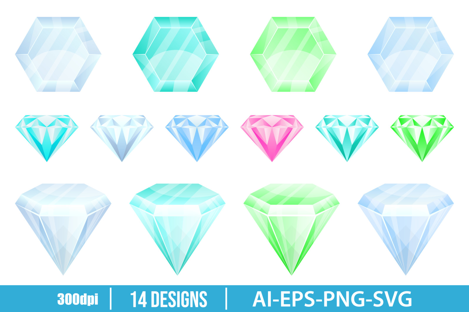 Diamond vector design illustration isolated on white background - DIAMOND scaled -