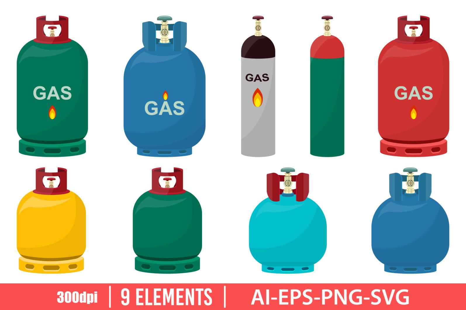 Gas tank clipart vector design illustration. Gas tank set. Vector Clipart Print - GAS TANK scaled -