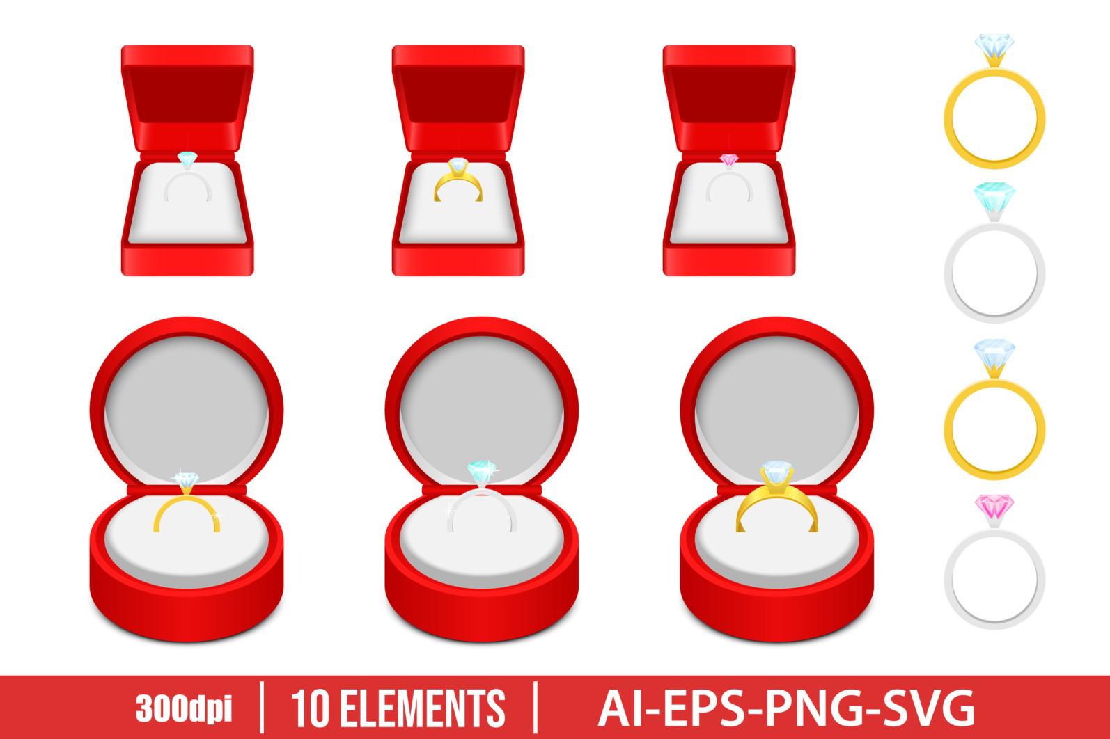 Engagement ring vector design illustration isolated on white background - ENGAGEMENT RING scaled -