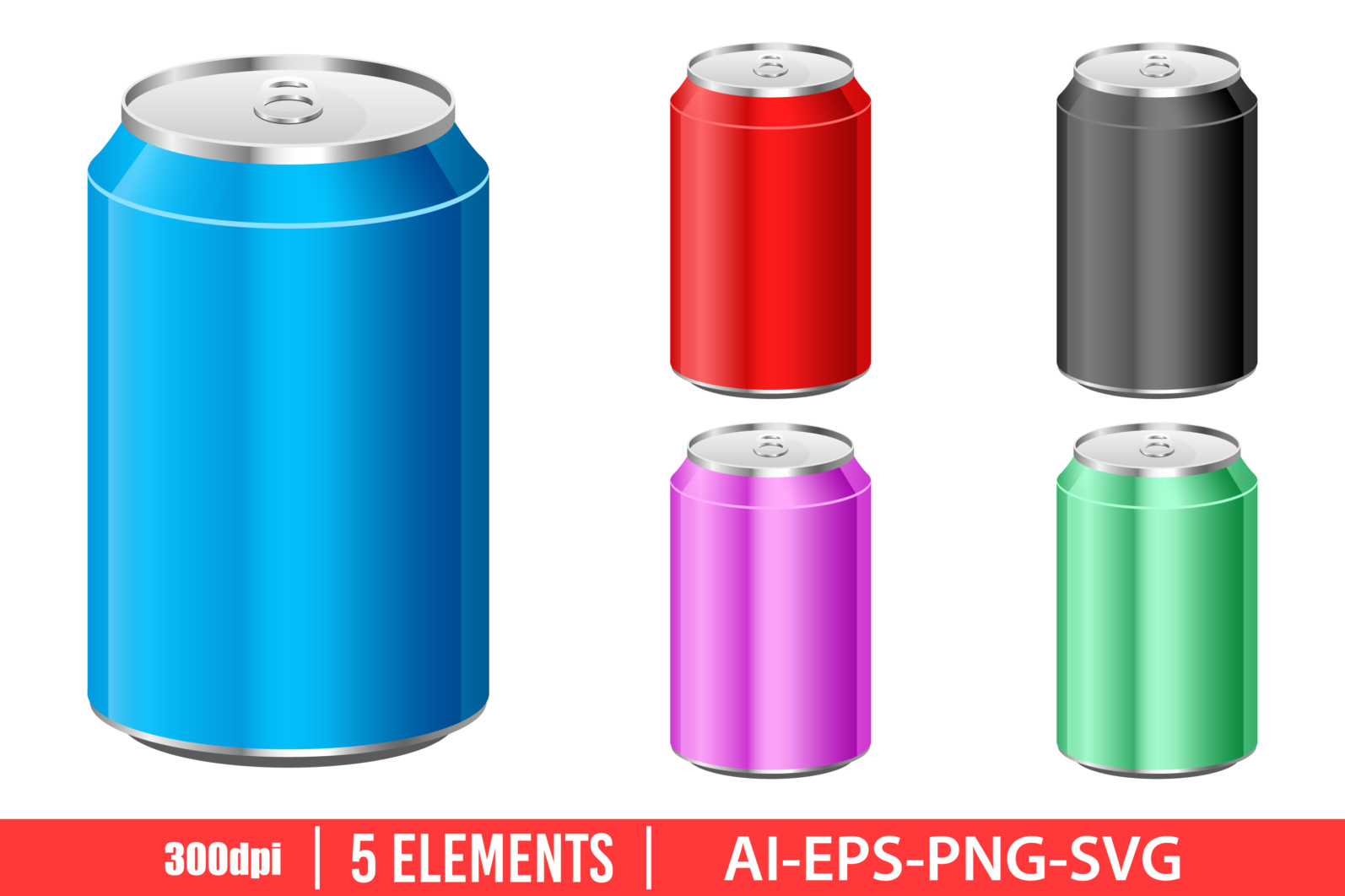 Soda can clipart vector design illustration. Soda can set. Vector Clipart Print - JUICE CAN scaled -
