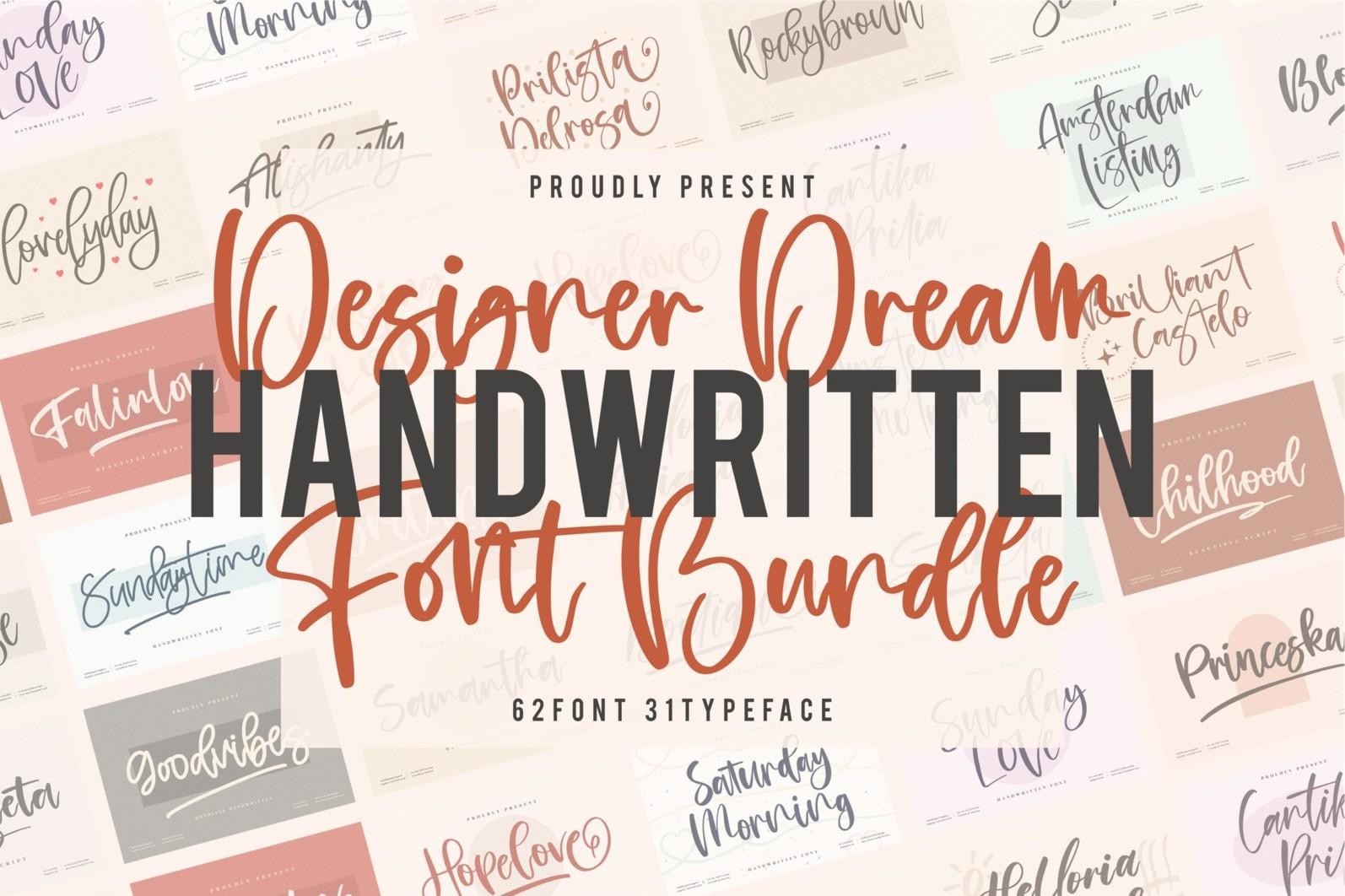 SALE! Handwritten Font Bundle from Perspectype Studio - 1 401 -