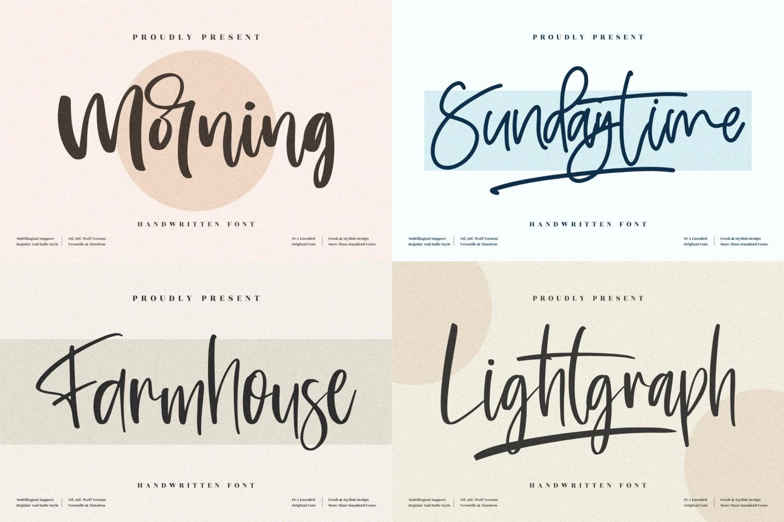 SALE! Handwritten Font Bundle from Perspectype Studio - 8 150 -