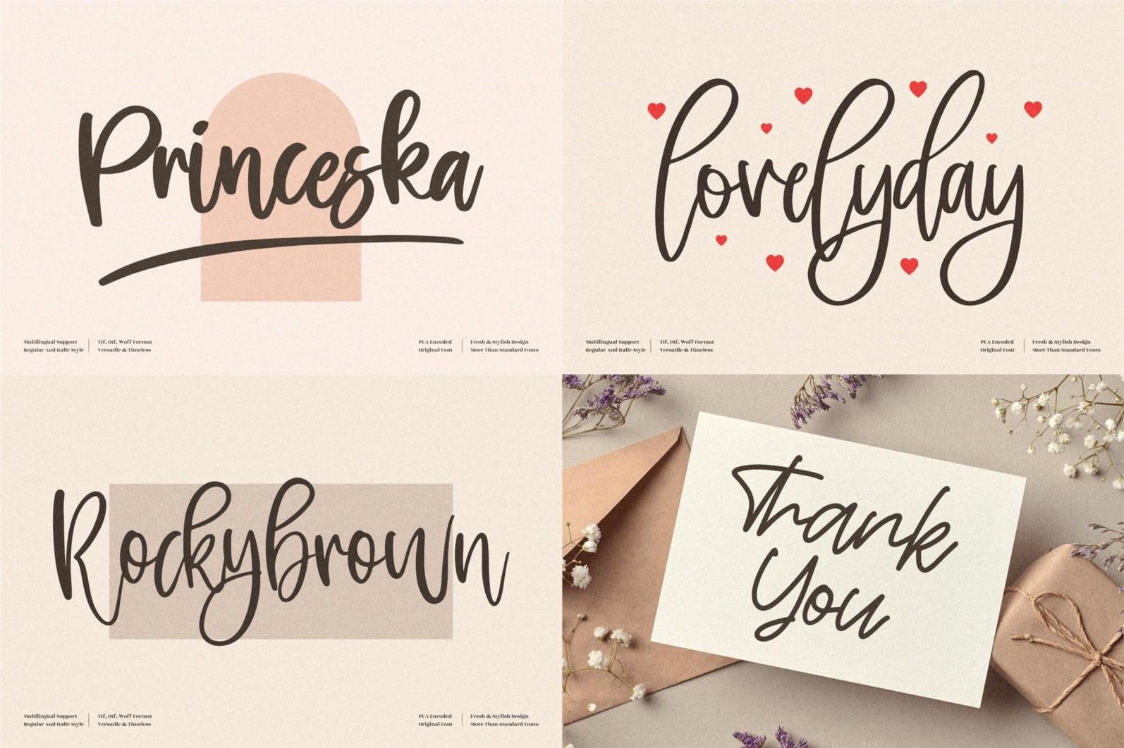 SALE! Handwritten Font Bundle from Perspectype Studio - 9 154 -