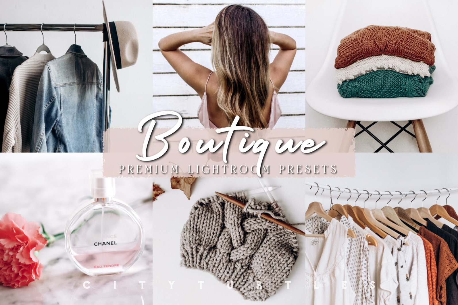 THE LIGHT & AIRY BUNDLE - Natural Clean Bright Lightroom Presets for Desktop + Mobile - bright clean white indoor clothing boutique shop thrift poshamrk etsy lightroom presets mobile desktop filters 1 -