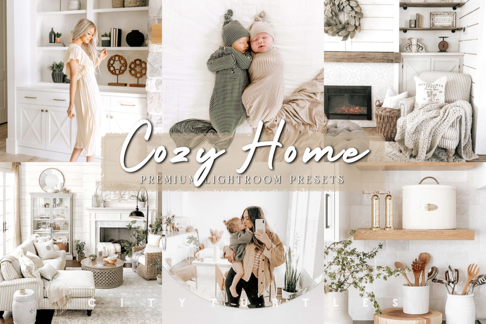 THE LIGHT & AIRY BUNDLE - Natural Clean Bright Lightroom Presets for Desktop + Mobile - cozy home bright clean indoor film blogger instagram lifestyle mobile filters neutral warm tones 1 -