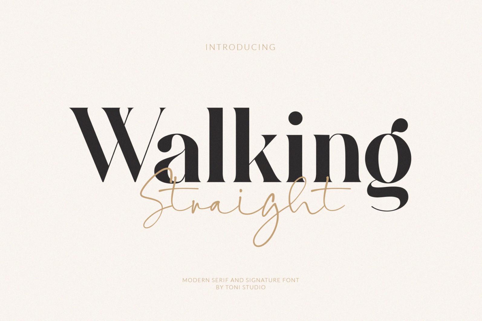 Walking Straight_Font Duo - SLIDE1 -