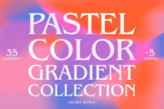 "<span style=""display: none"">Designer Bundles</span> - Pastel color gradient collection 01 -"