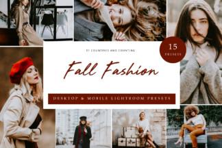 $1 Lightroom Preset Deals - Cover fall fashion -