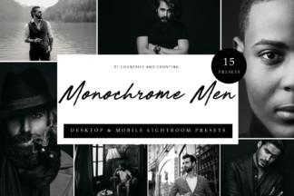 $1 Lightroom Preset Deals - Cover Monochrome Men -