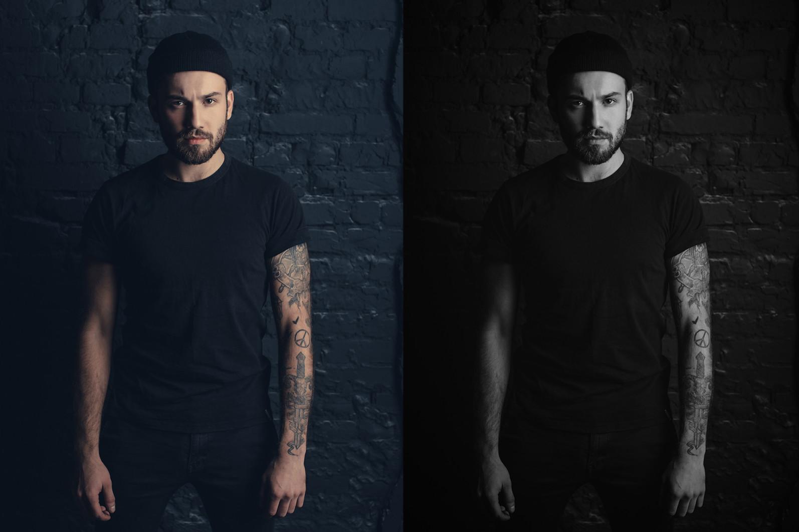 15 x Lightroom Presets, Monochrome Men Presets, Black and White Presets, Portrait Presets - 4 Monochrome Men 4 -