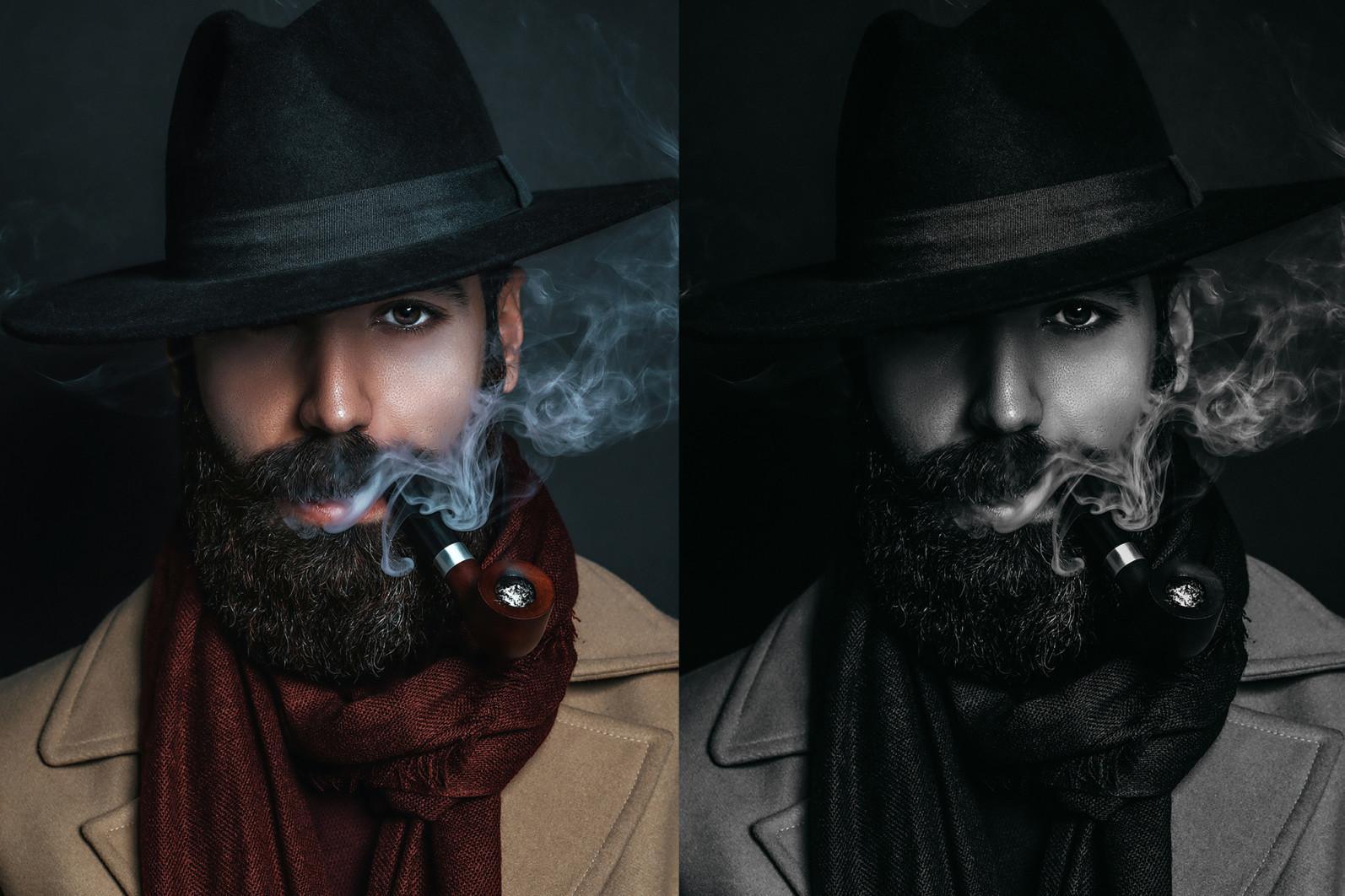 15 x Lightroom Presets, Monochrome Men Presets, Black and White Presets, Portrait Presets - 10 Monochrome Men 10 -