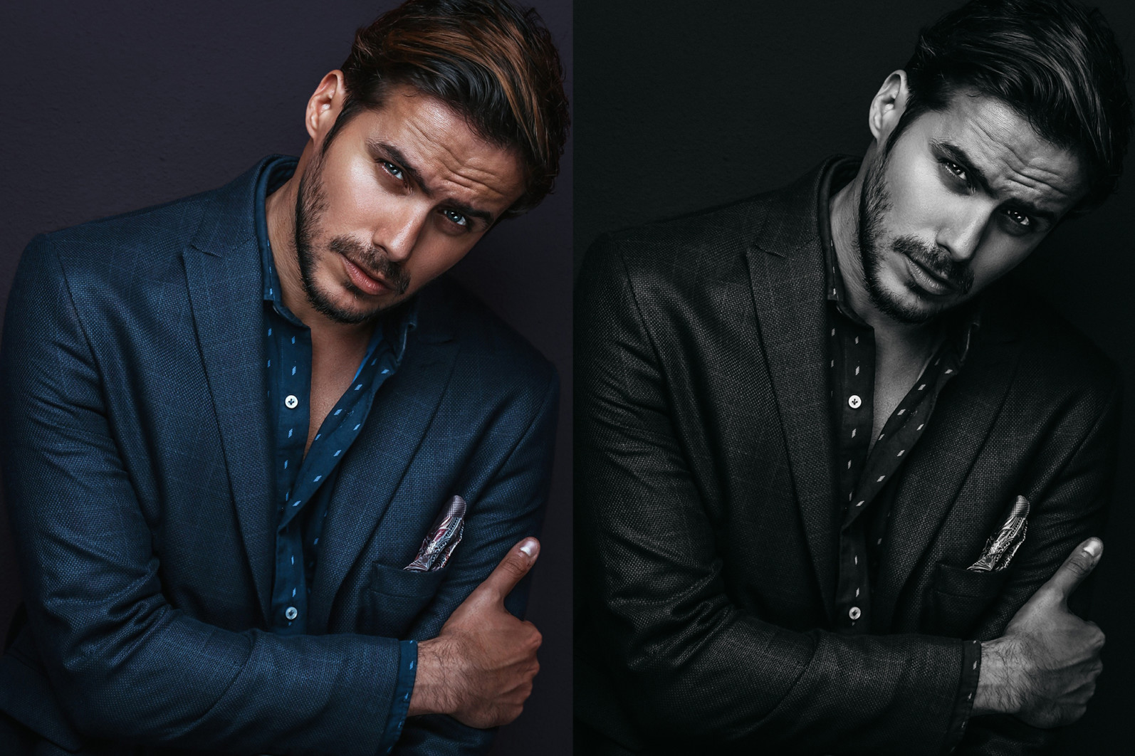 15 x Lightroom Presets, Monochrome Men Presets, Black and White Presets, Portrait Presets - 11 Monochrome Men 11 -