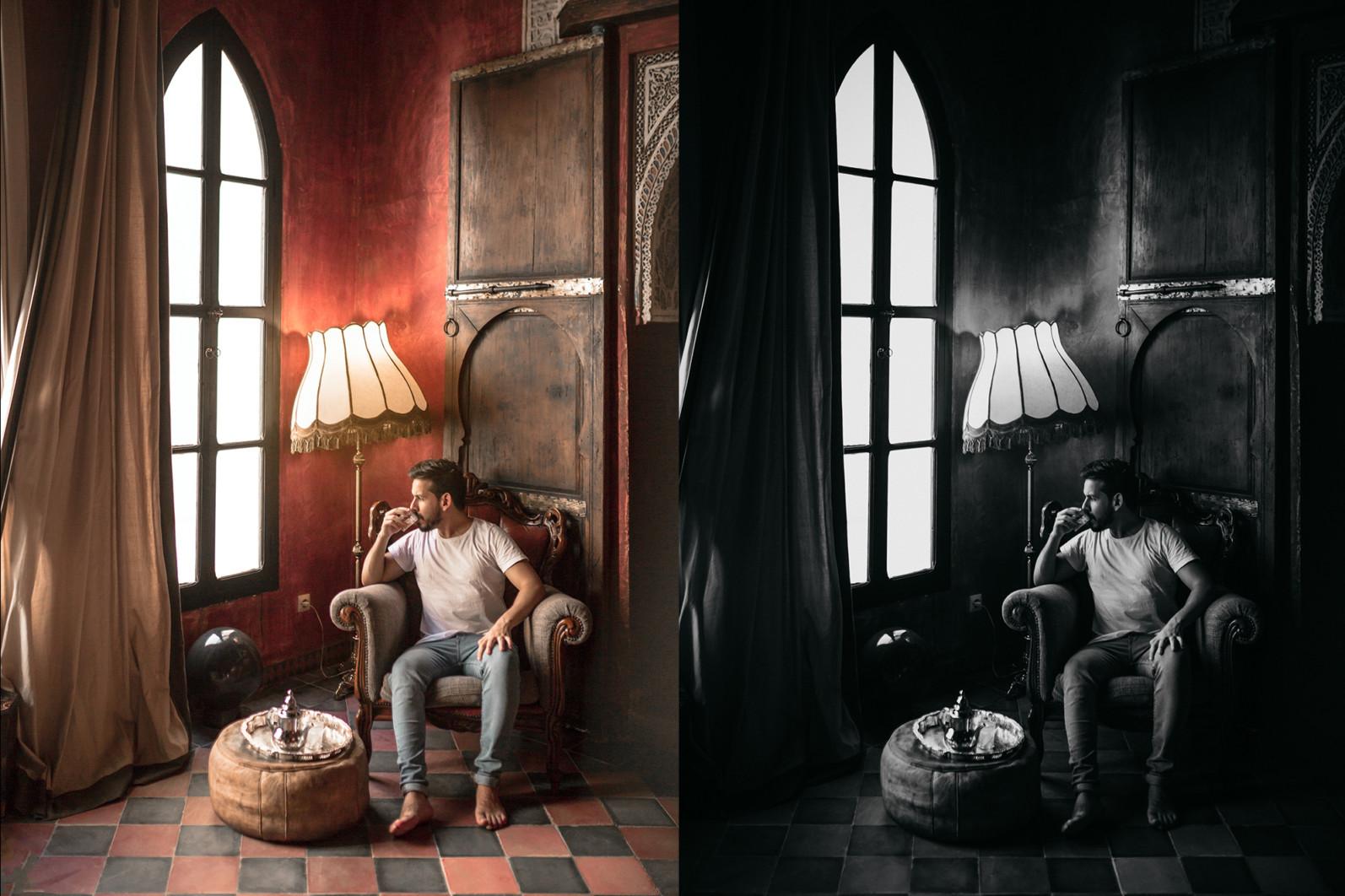 15 x Lightroom Presets, Monochrome Men Presets, Black and White Presets, Portrait Presets - 12 Monochrome Men 12 -