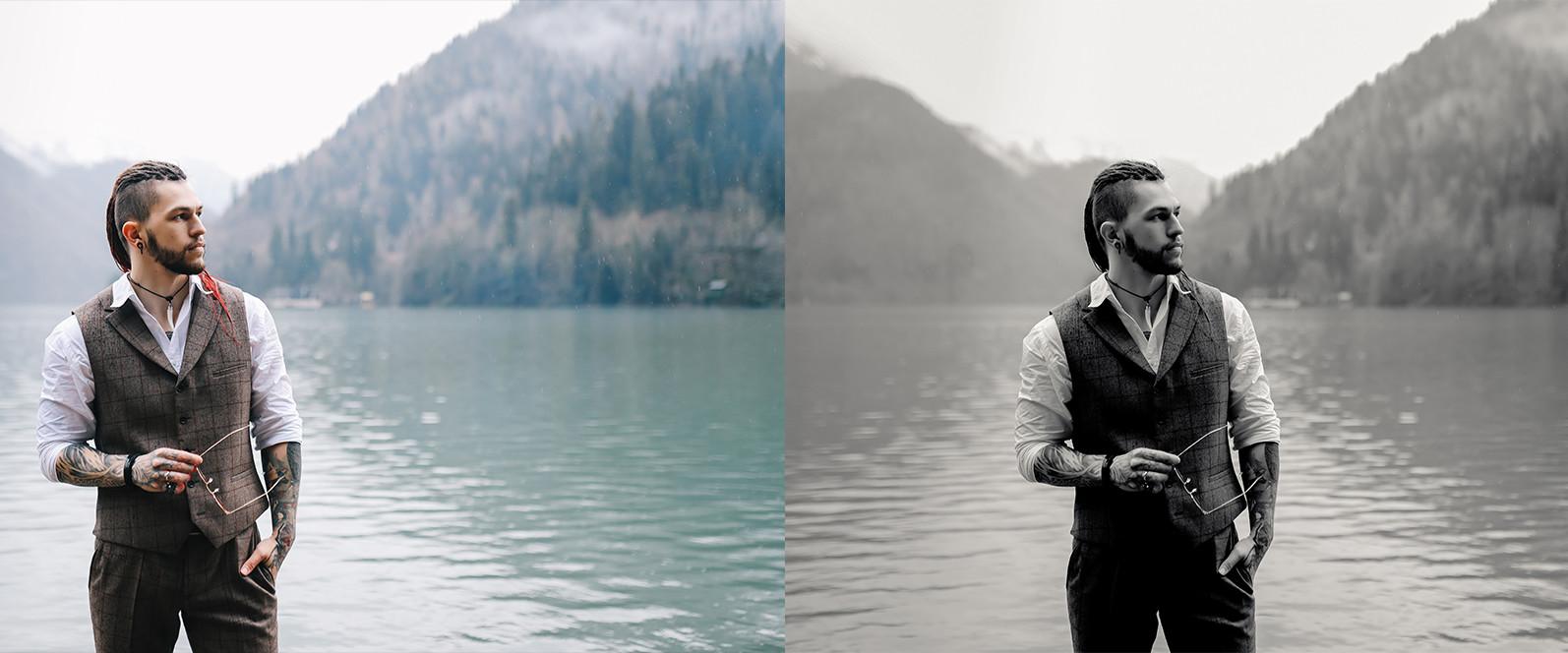 15 x Lightroom Presets, Monochrome Men Presets, Black and White Presets, Portrait Presets - 12 Monochrome Men 13 -