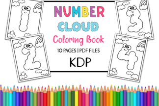 All Freebies - Number Cloud Coloring Book Pages for Kids -