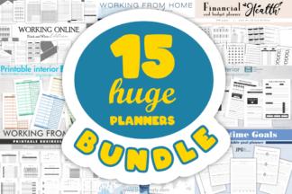 """<span style=""""display: none"""">Designer Bundles</span> - 01 HUGE Planners bundle KDP interiors -"""
