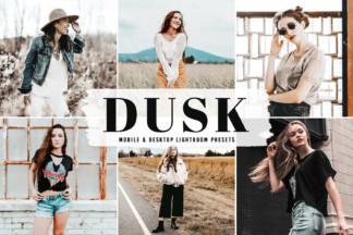 Crella Subscription - Dusk Mobile Desktop Lightroom Presets Cover -