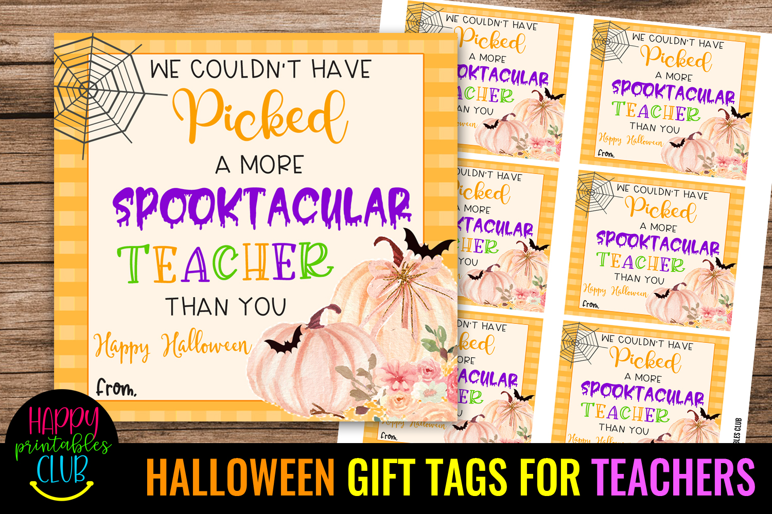 Thank You For Being Spooktacular -Halloween Gift Tag Teacher - HALLOWEEN GIFT TAGS FOR TEACHERS school halloween gift tags 1 -