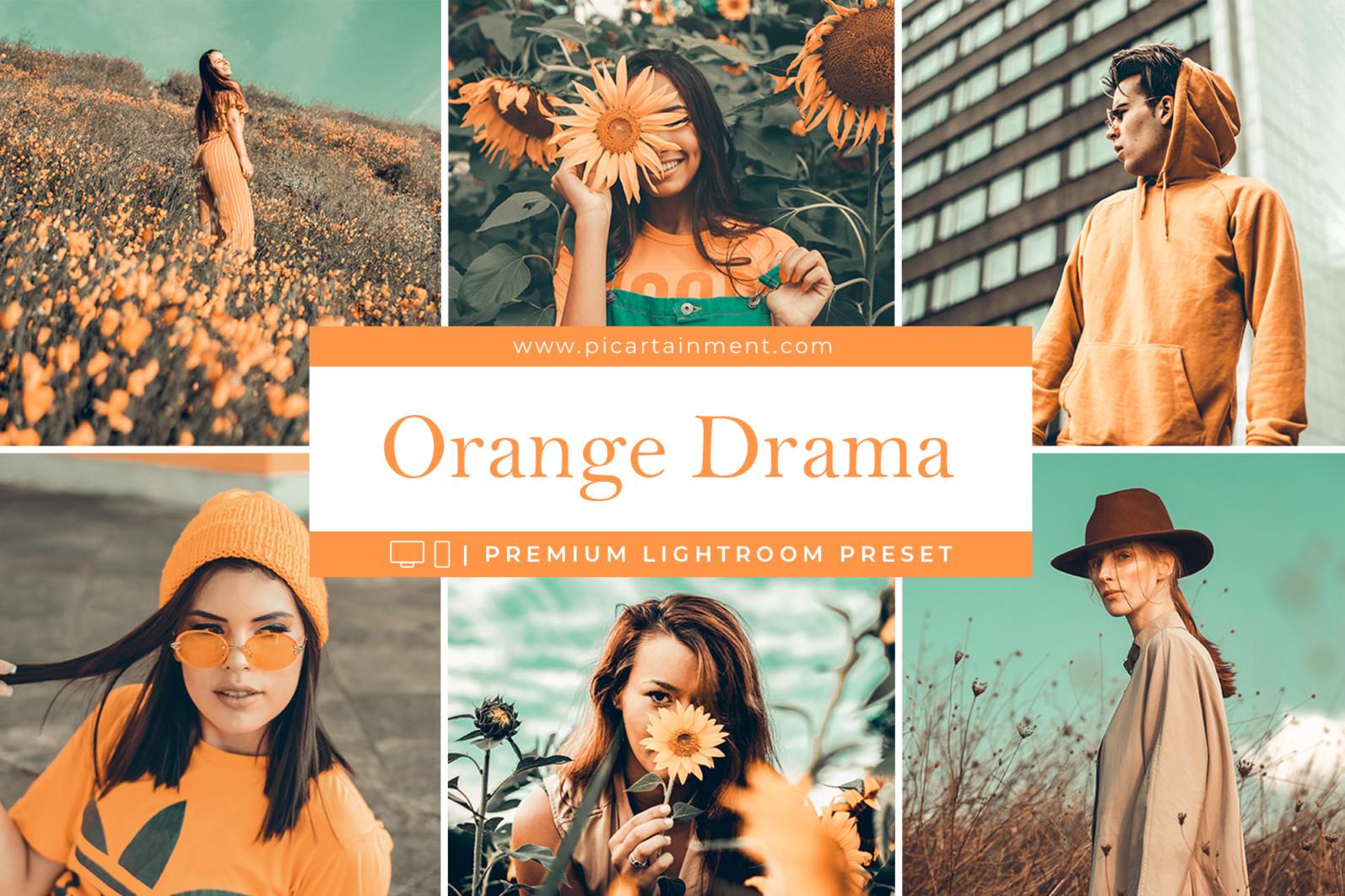 Orange Drama Lightroom Presets - Orange Drama cover -