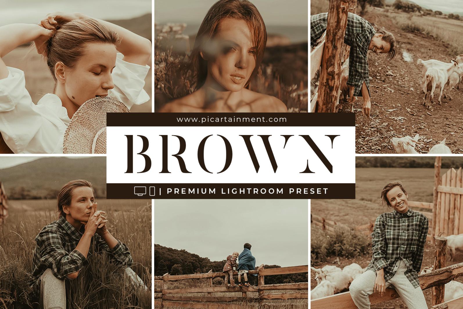 Brown Lightroom Presets - BROWN GD COVER -