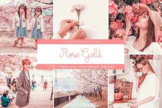 Rose Gold Lightroom Presets - Rose Gold cover -