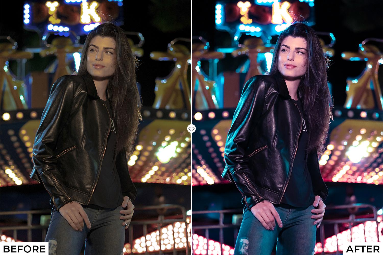 Night Life Lightroom Presets - comparison 5 7 -