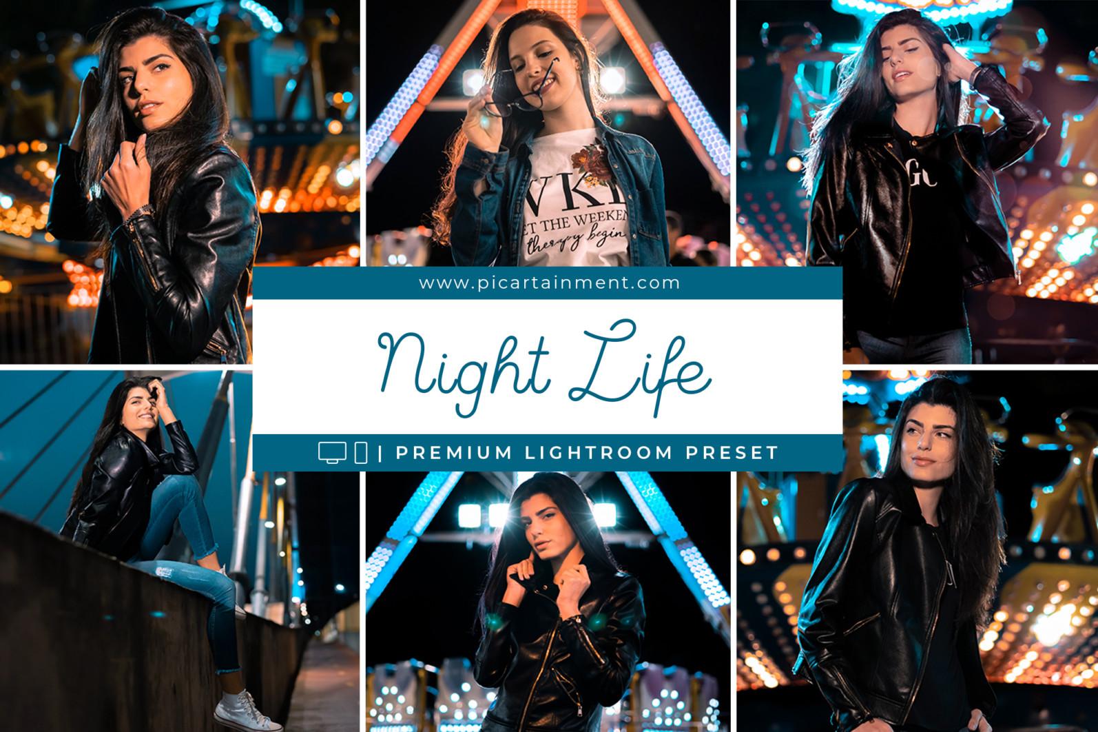 Night Life Lightroom Presets - Night Life Cover -