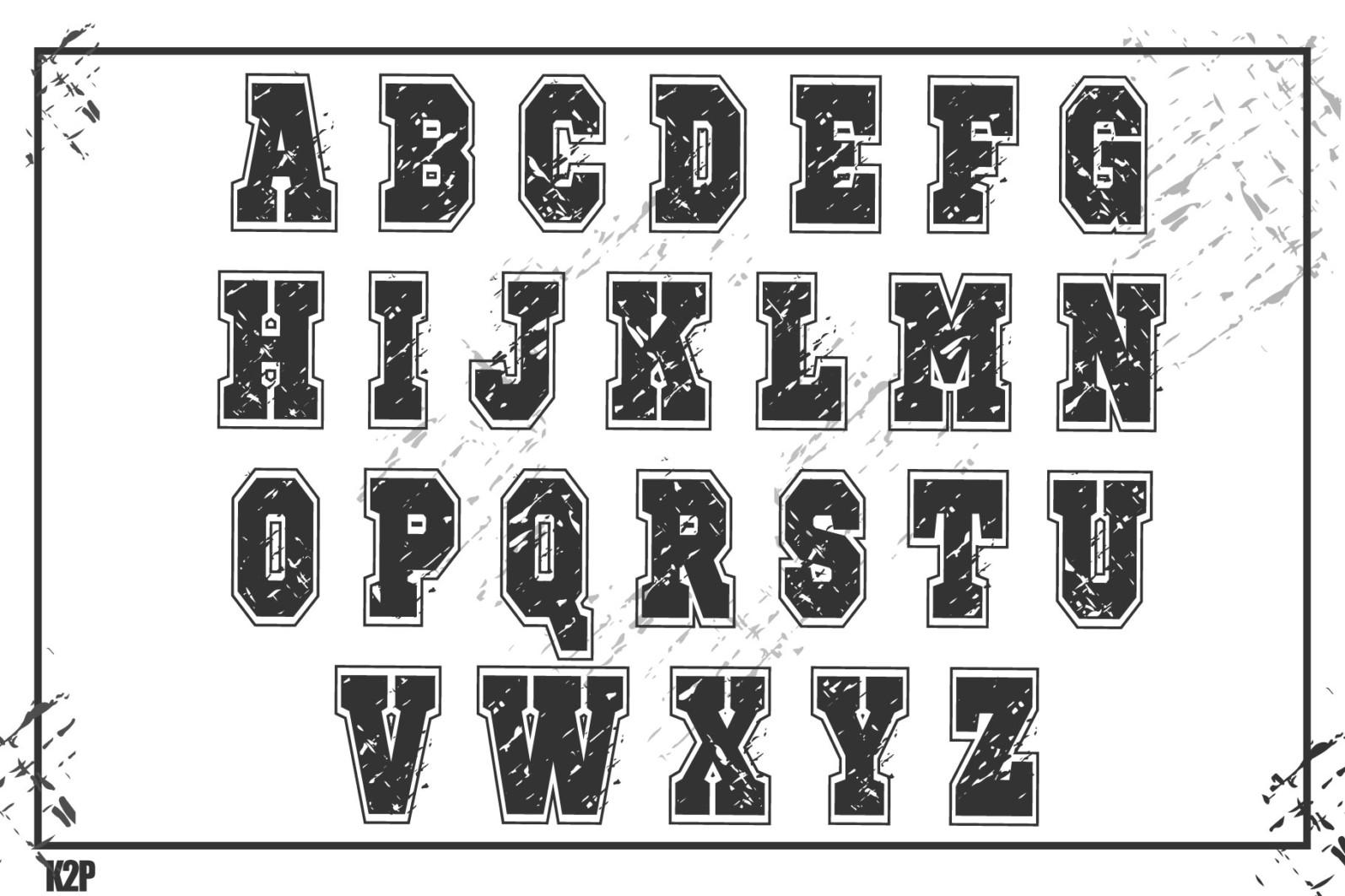 Grunge College 2 layers SVG Cut Files - GRUNGE COLLEGE AD5 -
