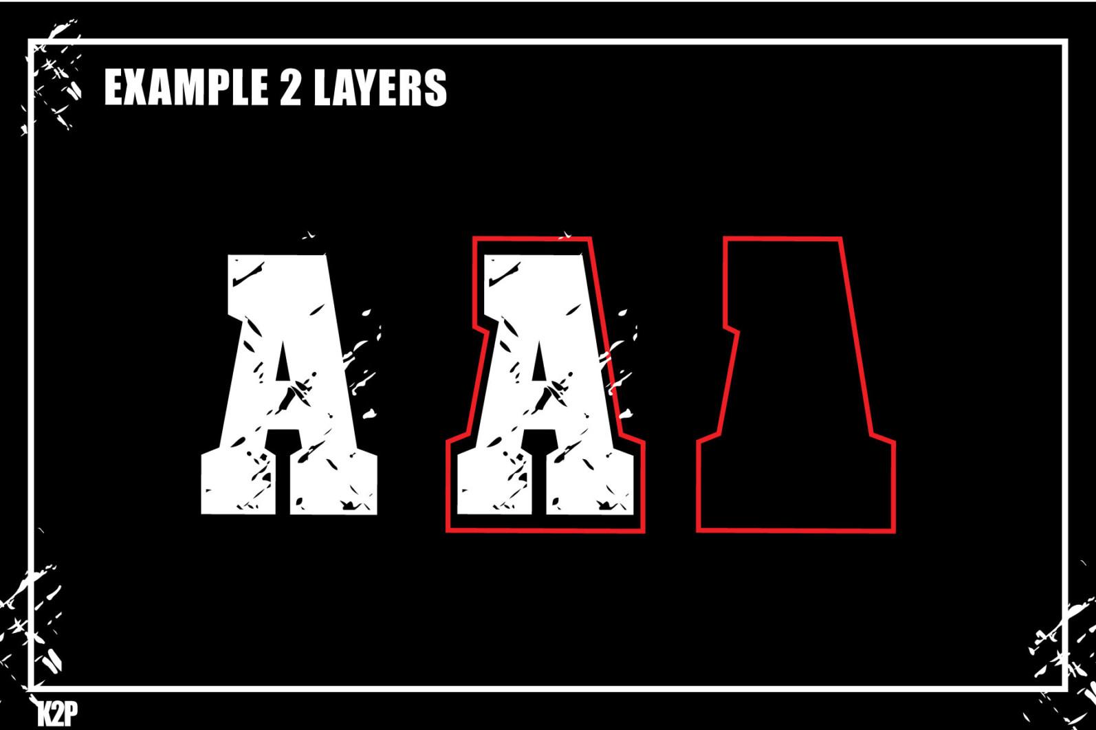 Grunge College 2 layers SVG Cut Files - GRUNGE COLLEGE AD11 -